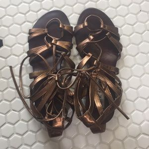 Steve Madden Metallic Bronze Gladiator Sandal